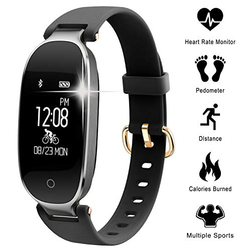 WOWGO Fitness Tracker mit Pulsmesser, Schlanke Sport Activity Tracker Watch, wasserdichte Schrittzähler Uhr mit Schlaf Monitor, Step Tracker für Kinder, Frauen und Männer