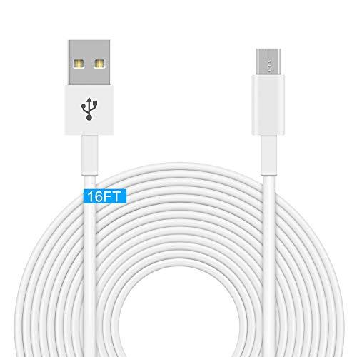 FYOUNG 4,5 m Stromkabel für clevere und kabellose Sicherheitskameras, Wyze Cam Pan, YI Dome-Kamera, Nest Cam, Arlo Q, Dropcam, Micro-USB-Strom-Verlängerungskabel