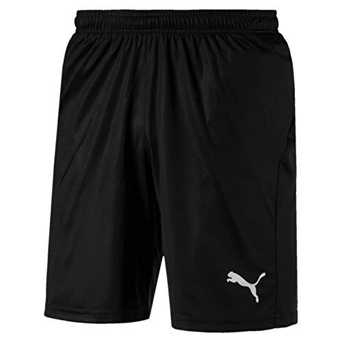 PUMA Herren Shorts Liga Core, Puma Black/Puma White, L, 703436, 703436 03