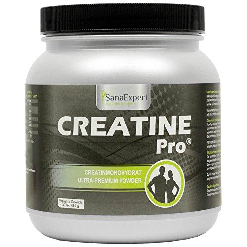 SanaExpert Creatine Pro (Creapure), Sportgetränk für 215 Portionen, 100% Creatin-Monohydrat, Kreatin-Pulver, gut löslich, klimaneutral, 650 g