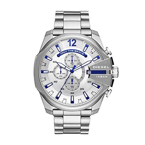 Diesel Herren Chronograph Quarz Uhr mit Edelstahl Armband DZ4477