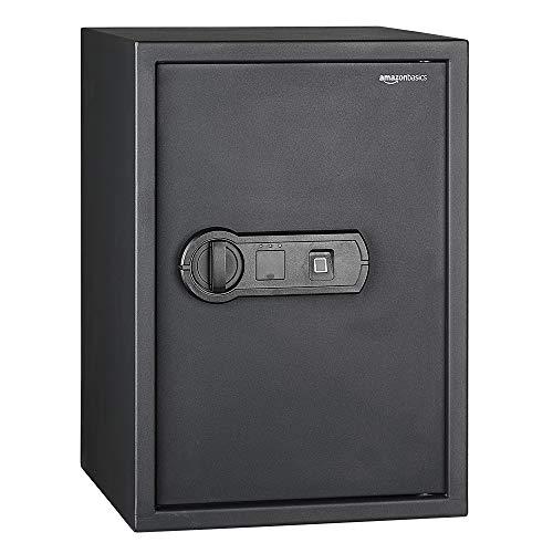 AmazonBasics - Biometrischer Tresor mit Fingerabdruck-Verschlusssystem, 50 l