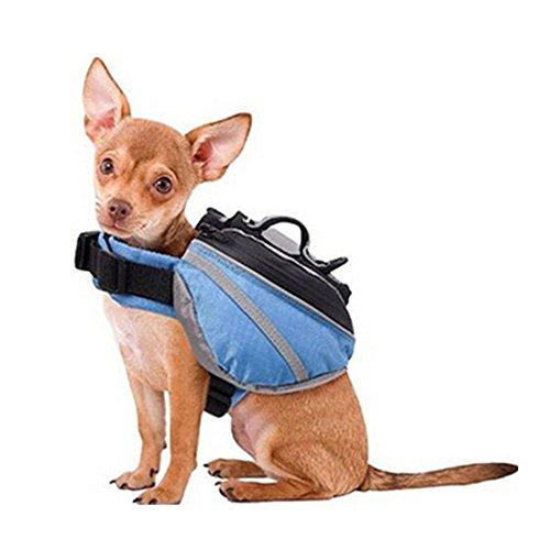 Livecity Satteltasche für Hunde, Rucksack, verstellbar, fürs Wandern, Camping, Weste mit Taschen für mittelgroße und große Hunde, für draußen