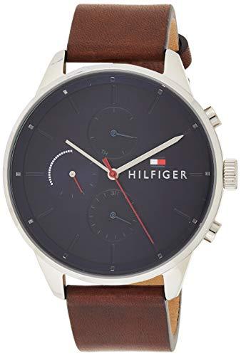 Tommy Hilfiger Unisex Multi Zifferblatt Quarz Uhr mit Leder Armband 1791487