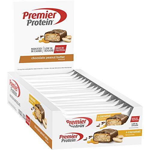 Premier Protein - Protein Bar Deluxe, Eiweißriegel, mit hohem Proteingehalt 40{9ad4ed38e977f501cfc52640cd4e9d39a8f460d6df3e6c4e59c66aafd36778bf}, kohlenhydratreduziert - Chocolate Peanut Butter (18x50g)
