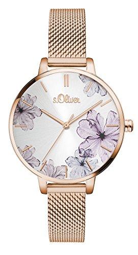 s.Oliver Damen Analog Quarz Armbanduhr SO-3524-MQ