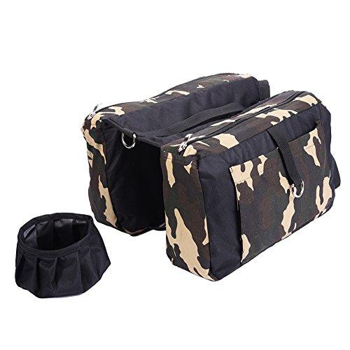 Starter Hund Satteltasche Outdoor Reise Wandern Rucksack Oxford Tuch für mittlere und große Hunde