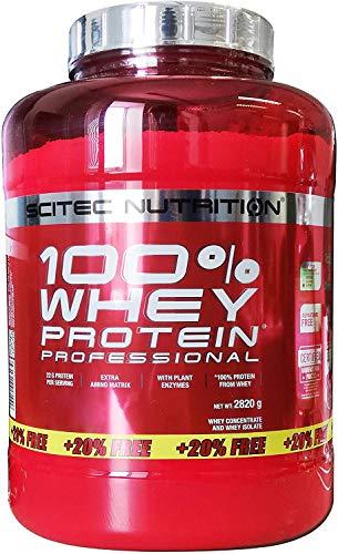 Scitec Nutrition Whey Protein Professional Erdbeere-Weiße Schokolade 2820g   SONDEREDITION mit 20% mehr INHALT