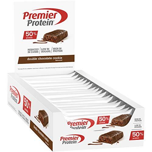 Premier Protein Protein Bar Double Chocolate 24x40g - High Protein Low Sugar Riegel