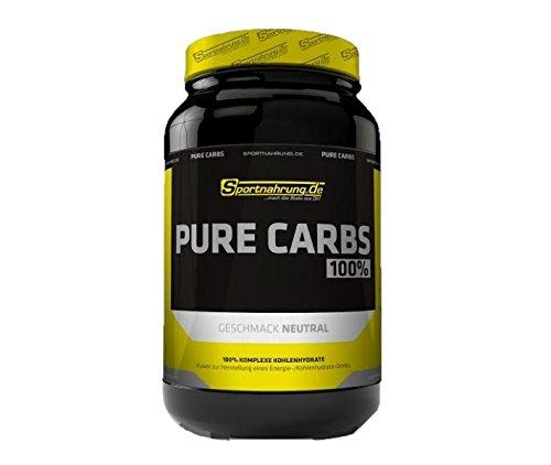 Sportnahrung.de Pure Carbs - 100{ad43d9a14705aa4650920606bed6be4c8f011ebd61919efe7c6336fb40534b55} komplexe Kohlenhydrate für mehr Power im Training durch langanhaltende Energieversorgung - 3000g