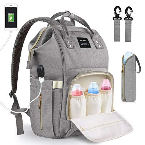 Baby Wickeltasche Wickelrucksack, mit USB-Lade Port Kinderwagen-haken Isolierte Tasche für Unterwegs, Große Kapazität