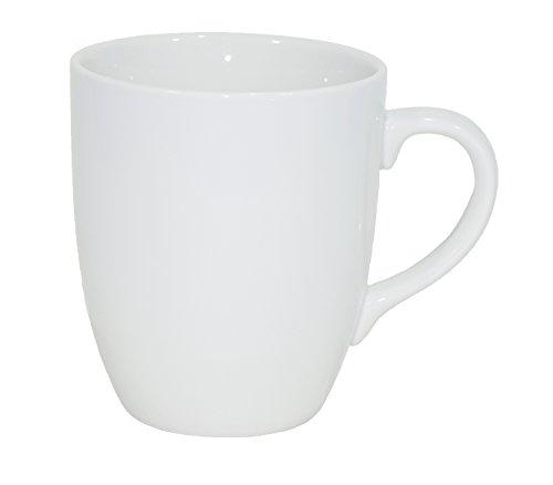 Set aus 12 Stück Tassen 300 ml aus echtem Porzellan, auch zum Bemalen bestens geeignet Porzellantassen Tasse Becher für Tee Kaffee Milch Cappuccino