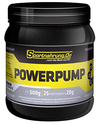 Sportnahrung.de Powerpump - hochdosierter, kraftvoller Pump Booster mit Arginin, Beta Alanin & Creatin für einen besseren Pump & mehr Energie im Training - 500g (Orange)