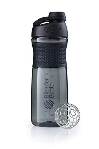 BlenderBottle Sportmixer Twist Tritan Trinkflasche mit BlenderBall, geeignet als Protein Shaker, Eiweißshaker, Wasserflasche oder für Fitness Shakes, BPA frei, skaliert bis 760 ml, 820 ml, schwarz