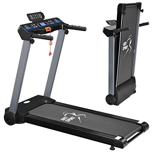 ArtSport Laufband Speedrunner 2500 elektrisch klappbar 12 km/h | 12 Programme | LCD Display | bis 100 kg belastbar | Heimtrainer Fitnessgerät