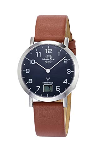 Master Time Funk Quarz Damen Uhr Analog-Digital mit Leder Armband MTLS-10660-91L
