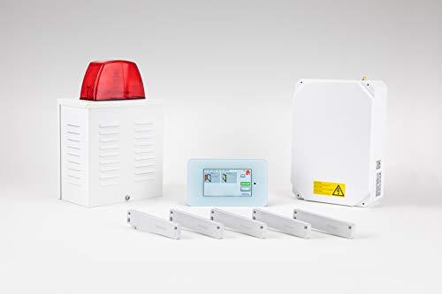 EIMSIG Alarmanlage PRO-Paket: Verlässliche und einfach zu bedienende Funk-Alarmanlage mit TouchDisplay, 5 Fenstersensoren (erweiterbar) und 100 dB Außensirene – Made in Germany