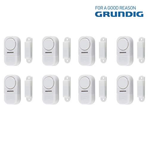 GRUNDIG Fenster- und Türalarm | Selbstklebend für einfache Montage | 90DB Signalton | für Türen/Fenster mit Scharnier oder Schiebefunktion (8)