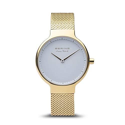 BERING Damen Analog Quarz Uhr mit Edelstahl Armband 15531-334