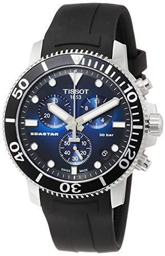 TISSOT Herren Chronograph Quarz Uhr mit Gummi Armband T1204171704100