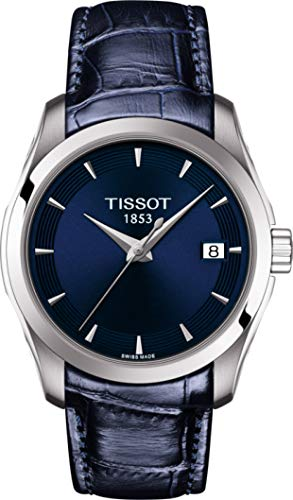 Tissot Damen-Uhren Analog Quarz One Size Leder 87573834