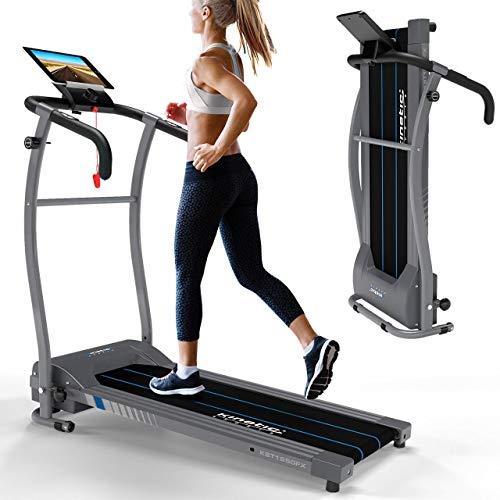 Kinetic Sports KST1650FX Laufband 500 Watt leiser Elektromotor 6 Pogramme, GEH- und Lauftraining, Tablethalterung, stufenlos einstellbar bis 10 km/h, klappbar