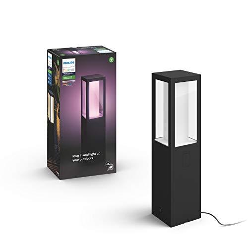 Philips Hue White and Color Ambiance LED Sockelleuchte Impress Basis-Set, für den Aussenbereich, dimmbar, bis zu 16 Millionen Farben, steuerbar via App, kompatibel mit Amazon Alexa (Echo, Echo Dot)