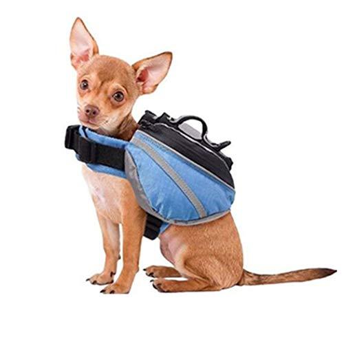 BINGMAX Outdoor Hund Rucksack Pet Hunde Satteltasche Rucksack für Camping Wandern Training