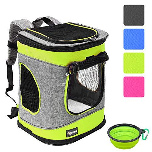 """Pawsse Dog Backpack Pet Carrier Rucksack für Katzen und Hunde bis 15 Pfund Outdoor Travel Carrier für Haustiere Wandern, Walken, Radfahren & Outdoor 16""""H x13.2""""L x12""""W Grün"""