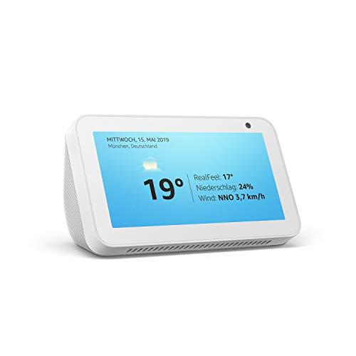 Echo Show 5, Zertifiziert und generalüberholt, kompaktes Smart Display mit Alexa, Weiß