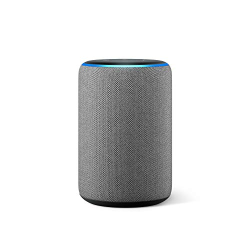 Amazon Echo (3. Generation), smarter Lautsprecher mit Alexa, Hellgrau Stoff