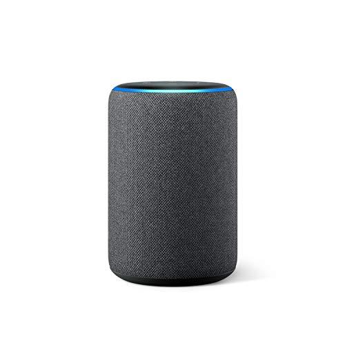 Amazon Echo (3. Generation), Zertifiziert und generalüberholt, smarter Lautsprecher mit Alexa, Anthrazit Stoff
