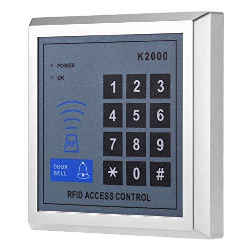 P Prettyia Digital Keyless Elektronisches Türschloss Zutrittskontrolle mit Kombination/Karte für Haus/Büro/Bad/Schule, 3 Entry (500 Benutzer)