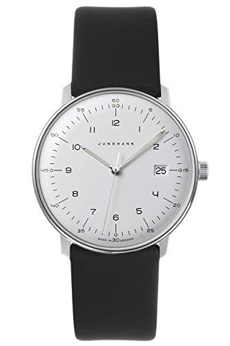 Junghans max Bill Quarz Herren-Armbanduhr mit 2 Lederbändern 041/446-Nappa