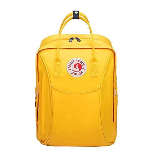 KALIDI Baby Wickelrucksack Wickeltasche Mama Rucksack Große Kapazität Multifunktional Wickelunterlage mit praktischen Kinderwagenhaken Babytasche für Unterwegs (Gelb)