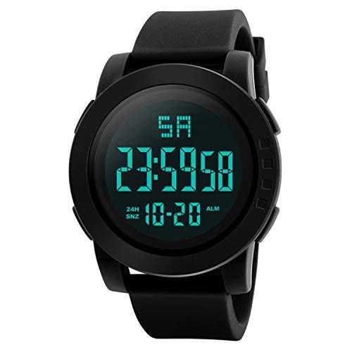 Neu Armbanduhr FGHYH Herren Luxury Men Analog Digital Military Army Sport LED Waterproof Wrist Watch Uhr Armbanduhr(Schwarz)