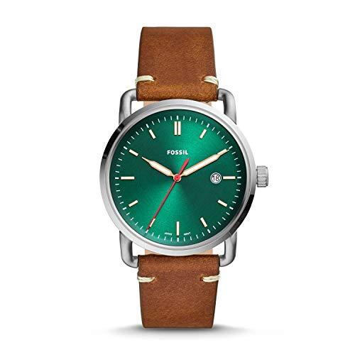 Fossil Herren Analog Quarz Uhr mit Leder Armband FS5540