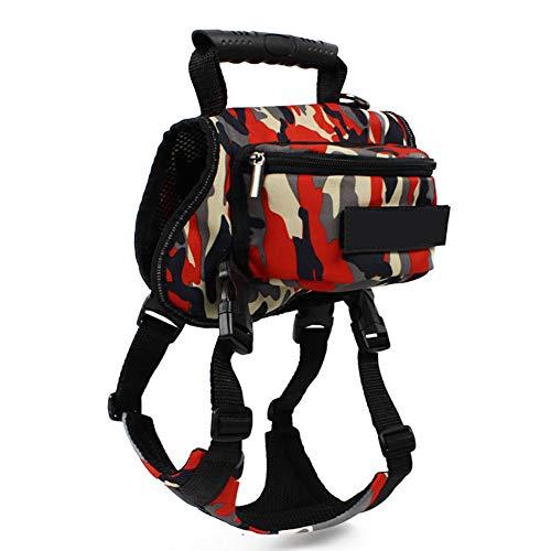 TUYU TYDC237 Hunde-Rucksack, wasserfest, 2-in-1-Satteltasche, Weste, Geschirr für Rucksackreisen, Wandern, Reisen, Anzug für kleine, mittelgroße und große Hunde