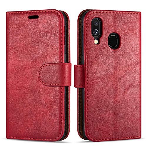 """Case Collection Hochwertige Leder hülle für Samsung Galaxy A40 Hülle (5,9\"""") mit Kreditkarten, Geldfächern und Standfunktion für Samsung Galaxy A40 Hülle"""