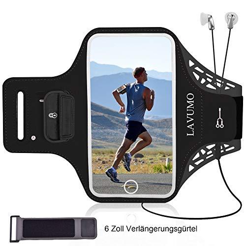 Armtasche Handy Sportarmband für iPhone 11 XR X XS Samsung S8 S9 S6 S7 S10 Plus S5 A7 A5 Huawei P9 P10 Lite P20/P20 lite P30 Mate 20 Lite Joggen Laufen Sport Handytasche Mit Schlüssel Karten Halter