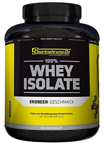 Sportnahrung.de 100{5c922dc3510628cdf2ebcc5a49cb596ca48982ae80eaa614ecd9ad112872a2d2} Whey Isolate - hochwertiges Whey Protein Isolat zum Bestpreis - angereichert mit BCAAs & Glutamin - ideal zur Förderung Muskelaufbau 2000g, Erdbeer