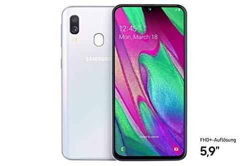Samsung Galaxy A40 Smartphone (15.0cm (5.9 Zoll) 64GB interner Speicher, 4GB RAM, Dual SIM, weiß) - Deutsche Version
