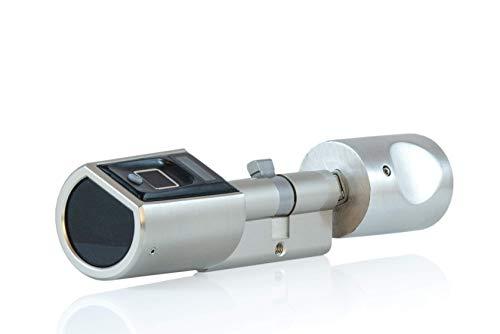 SOREX FLEX - Türschloss biometrisch mit deutschem Support! Türöffner mit Fingerabdruck und RFID Zylinder inkl. Batterien | Keine Schlüssel nötig | Keyless Smart Lock | elektronisches Schloss