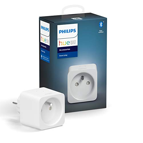 Philips Hue Smart Plug, smarte Steckdose, kompatibel mit Amazon Alexa (Echo, Echo Dot)
