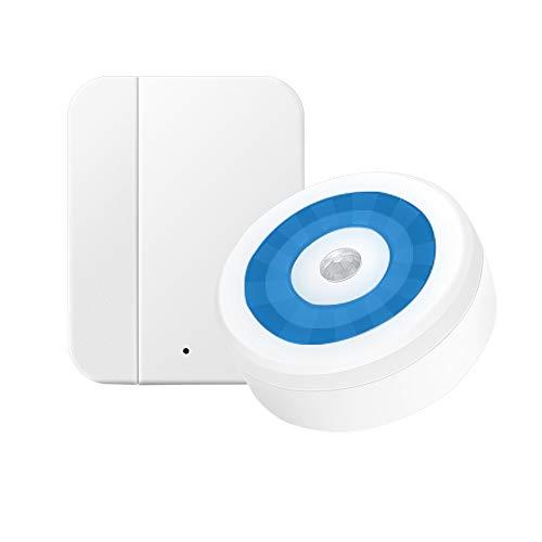 Türalarm Funk, Yiroka Fensteralarm Set, Magnetsensor Tür Fenster Sensor Alarm, Türsensor Alarm, Fenster Alarmanlage, 150m Reichweite, 58 Klingeltöne, 4 Lautstärke mit LED-Anzeige