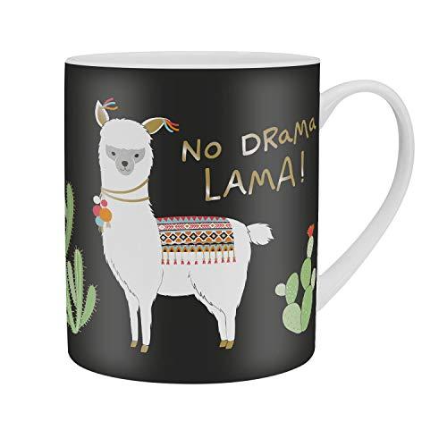 Happy Life 46233 große Tasse mit Spruch No Drama Lama, Porzellan, 60 cl, Geschenk Tasse