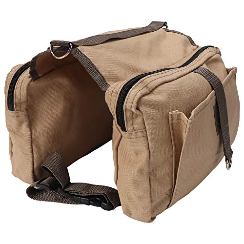 Pssopp Hunderucksack Hunde Rucksack Radtasche Hundetasche Reisen Camping Wandern Hundebackpack Hunde Satteltasche mit 2 Seitentaschen für mittelgroße Hunde
