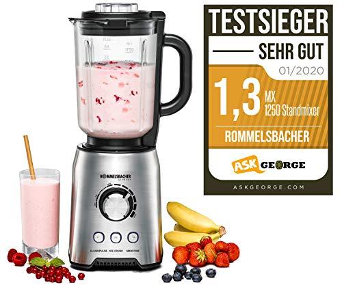 ROMMELSBACHER MX 1250 Standmixer, 1200, Edelstahl, 1.75 liters
