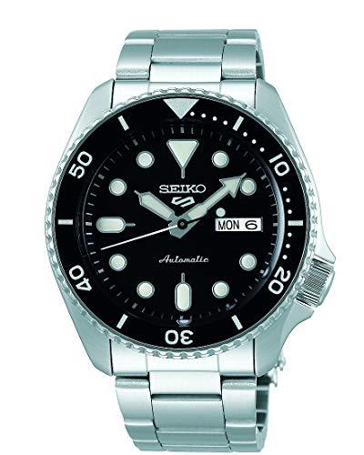 Seiko 5 Sports Herren-Uhr analog Automatik mit Metallarmband SRPD55K1