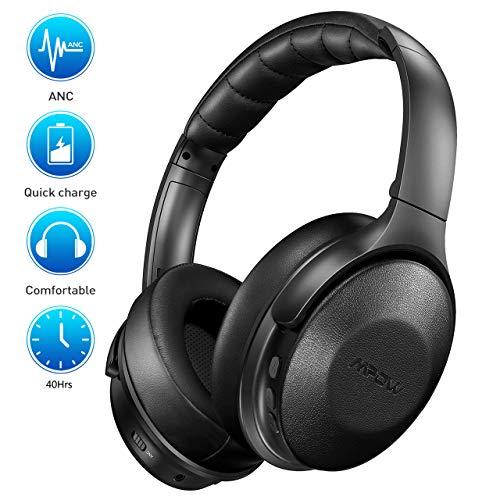 Mpow H17 Noise Cancelling Kopfhörer, Bluetooth Kopfhörer Over Ear mit Schnellladung, [Bis zu 40 Std] Wireless Hi-Fi Stereo Kopfhörer, ANC-Kopfhörer mit Weichen, echten Protein-Ohrpolstern